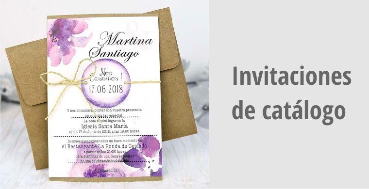 Invitaciones de catálogo