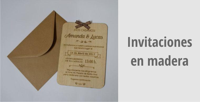 Invitaciones en madera